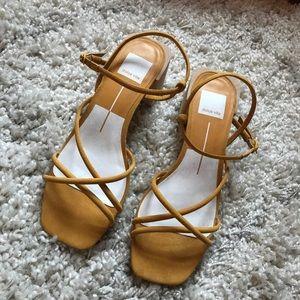 NWOT Dolce Vita sandals yellow size 7.5